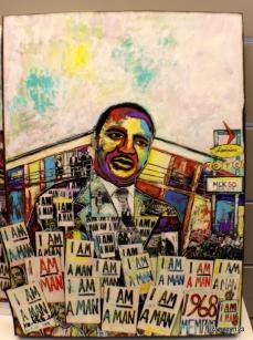 great portrait inside the National Civil Rights Museum - Memphim