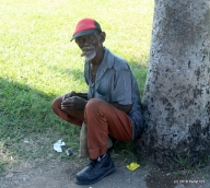 A very wise lad and baseball affecionado outside Estadio Guillermon Mocada in Santiago de Cuba