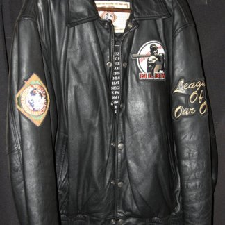 This Negro League jacket was given to me as a gift from my wife Judith. Using her connections, she had Los Angeles Dodger great Lou Johnson secure it for me.